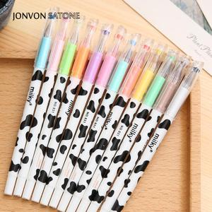 Jonvon Satone креативные Канцтовары молочная корова 12 цветов Алмазная Ручка гелевая Корейская мультяшная канцтовары оптом Kawaii школьные принадлежности