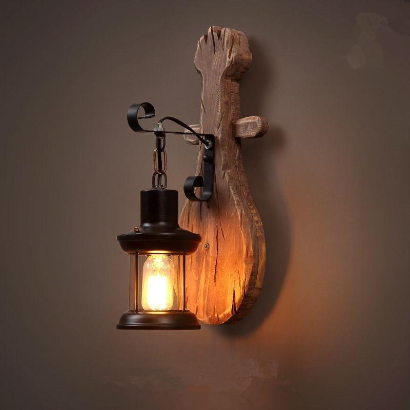 ՆՈՐ ձեղնահարկ Ամերիկյան Retro Solid Wood Wall - Ներքին լուսավորություն - Լուսանկար 2