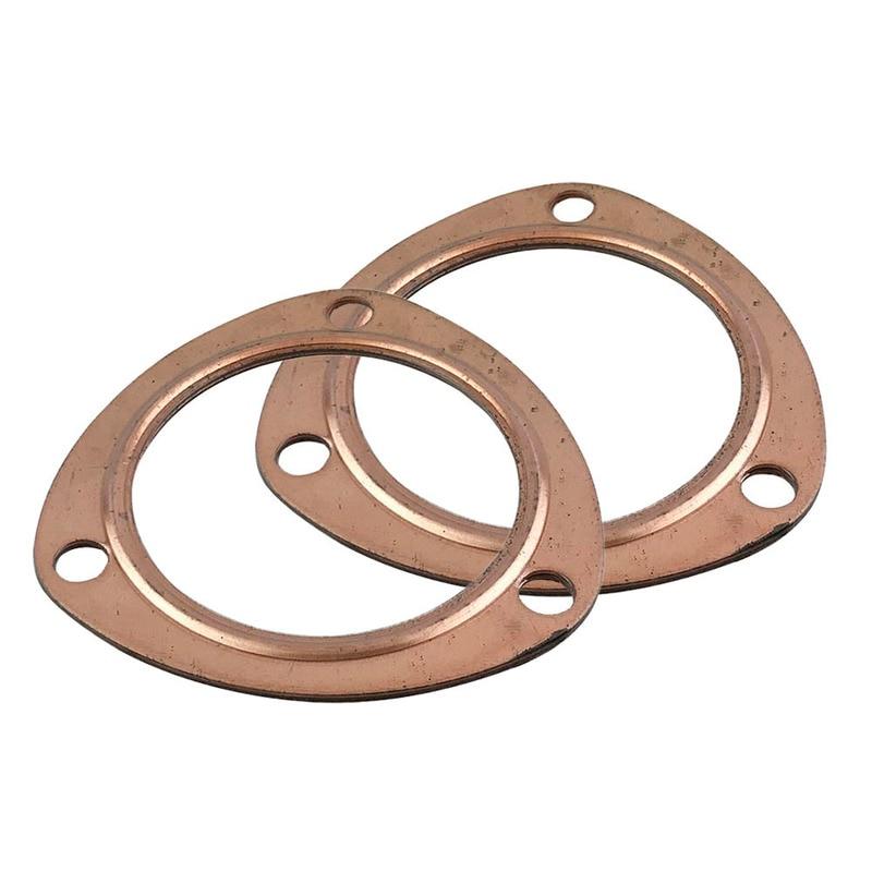 "Header Collector Gaskets Copper Gaskets Exhaust Header Headers Pair 3/"" NEW"