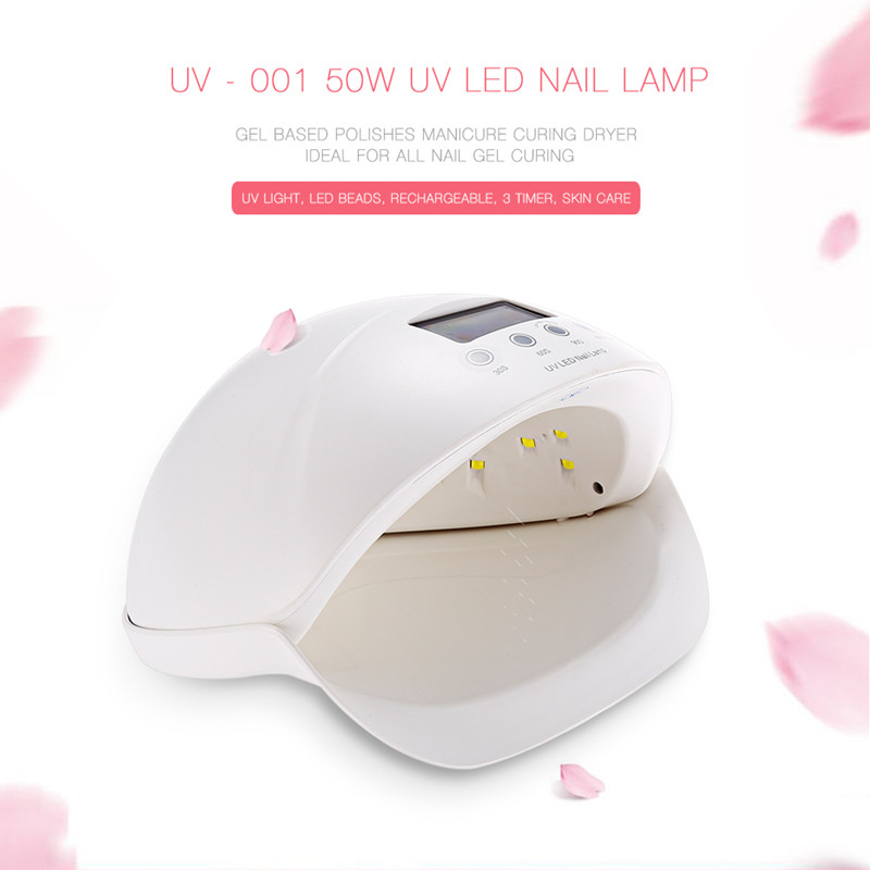 50W Dual UV LED Nail Lamp Nail Dryer Gel Polish Curing Light With Bottom 30s/60s/90s Timer LCD Display Physiotherapy Nail Tools nail polish gel tools professional ccfl 48w led uv lamp light 110 220v nail dryer with automatic induction 10s 20s 30s timer