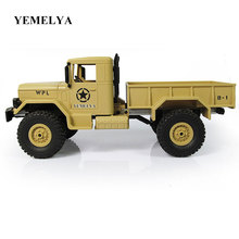 Military RC Truck 1/16 2.4G WPLB-14 USA Military Off Road Vehicle Remote Simulation Of Military Vehicle Climbing car Toy