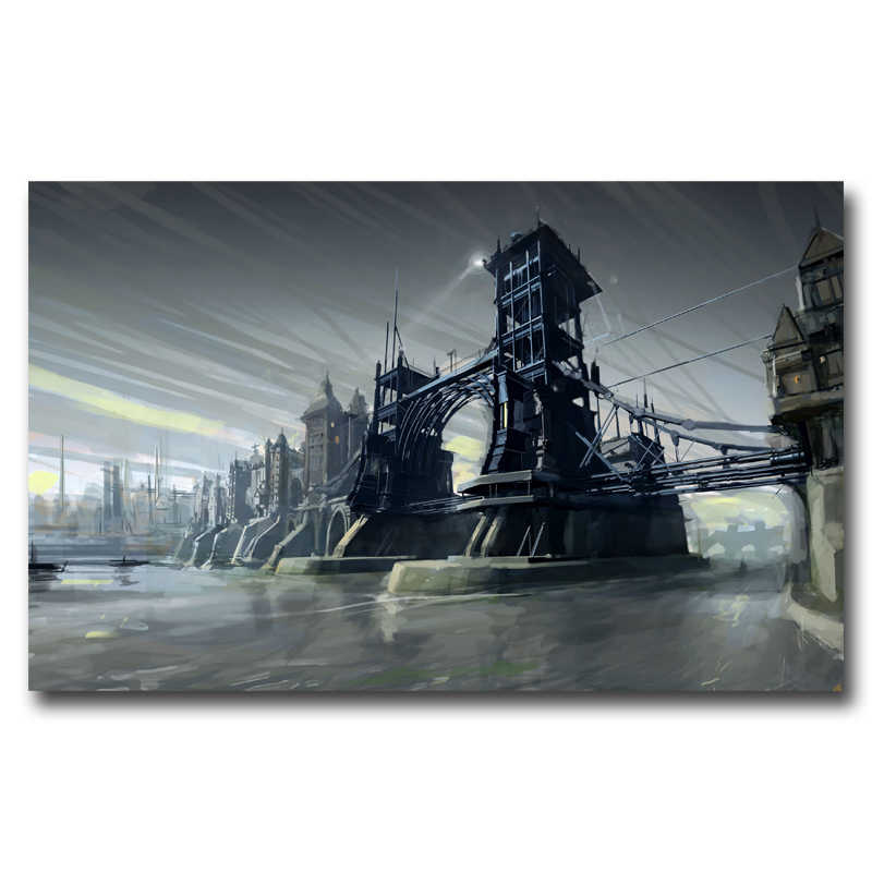 FOOCAME Dishonored Video Game Art Zijde Stof Poster Prints Home Muur Decor Schilderen 12x19 15x24 19x30 22x35 30x48 Inches