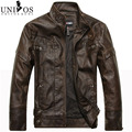 Men's Leather Jacket Brand Jaqueta Masculina Stand Collar Male Jaquetas Casaco 2015 New Arrival Veste Homme ZHY1733