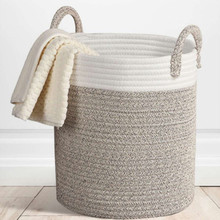 Nordic Cotton Rope Hamper Clothing Storage Basket Toy Debris Bedroom Collapsible Organizer Large Laundry Bucket