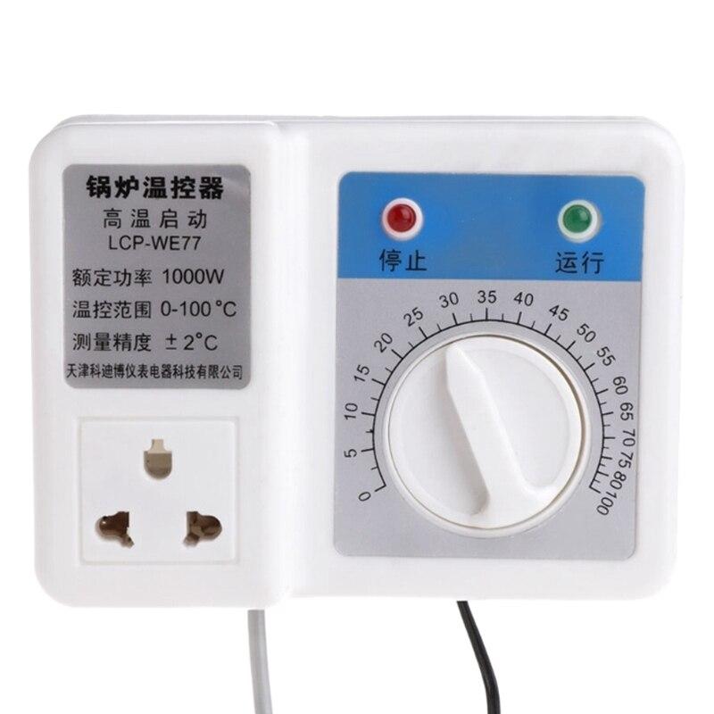 220v 1000w Boiler Thermostat Regulator Circulating Pump Temperature Controller Us Plug