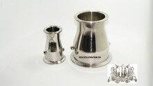 Tri-Clamp Редуктор 2 «x 3» (51 х 76 мм). SS Из Нержавеющей Стали 304 с рукавами для thermosensors 4.2 мм и 6.2 мм
