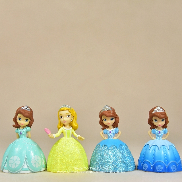 Disney Sofia the First Princess 6-9cm Q version Action Figure Anime Mini doll Collection Figurine Toy model for children gift