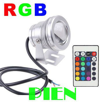 10W 12v RGB underwater Led Light 1000LM Waterproof IP65 fountain pool Lamp 85-265V +24key Remote controller Free shipping 2pcs