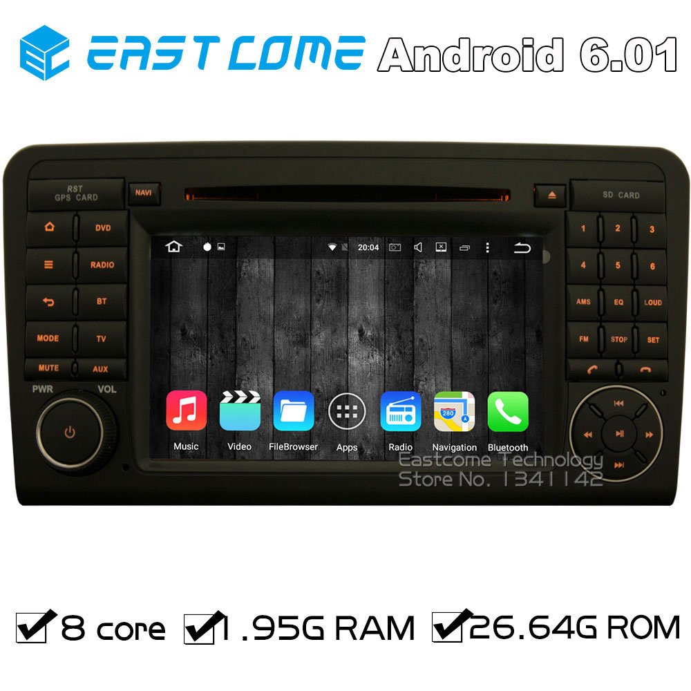 Octa Core 8 Core Android 6.0 Car DVD Player For Benz <font><b>ML</b></font> CLASS W164(2005-2012) ML300 ML320 ML350 ML450 ML500 ML63 With Radio GPS image