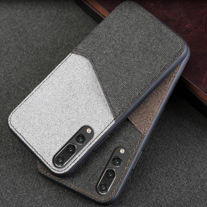 Caixa Do Telefone Para Huawei P10 Cavans P20 Lite Pro caso Cor da Costura Para Trás tampa Para O Companheiro 9 10 pro Nova 2s Mais Honra 9 V9 Caso