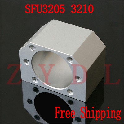 Free shipping DSG32H SFU3205 <font><b>SFU3210</b></font> ballscrew nut housing for 3205 3210 ball screw nut housing bracket holder CNC parts 1pcs image