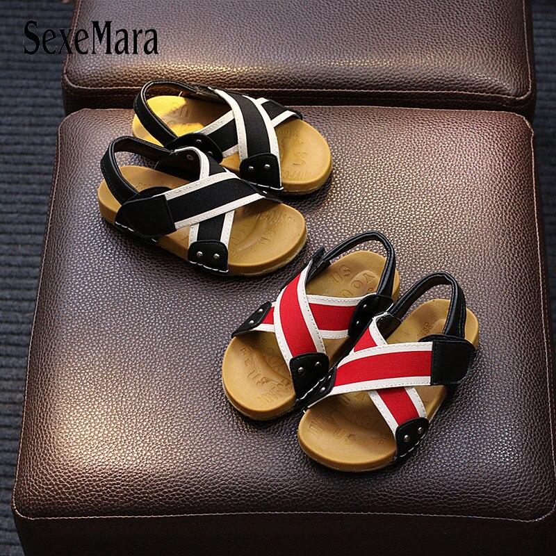 Boy Sandals 2018 New Kids Boys Summer Beach Sandals Korean Flats Soft Sandals Breathable Baby Summer Childrens Footwear B05121