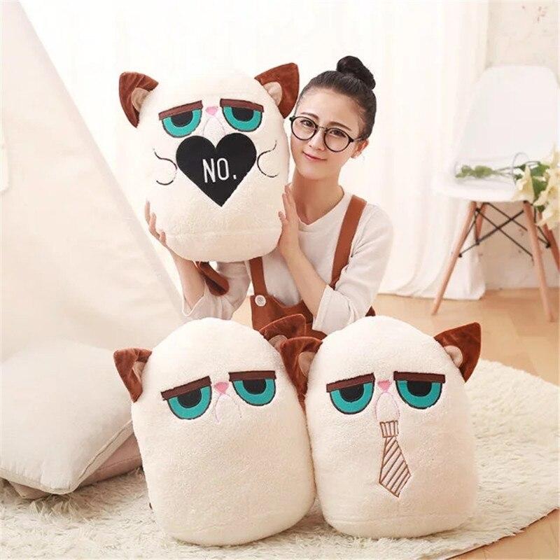 Creative Cartoon grumpy cat pillow Cat Cushion angry Cat Pillow kid girl christmas day gifts free