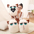 Creative Cartoon grumpy cat pillow  Cat Cushion angry Cat Pillow kid girl christmas day gifts free shipping