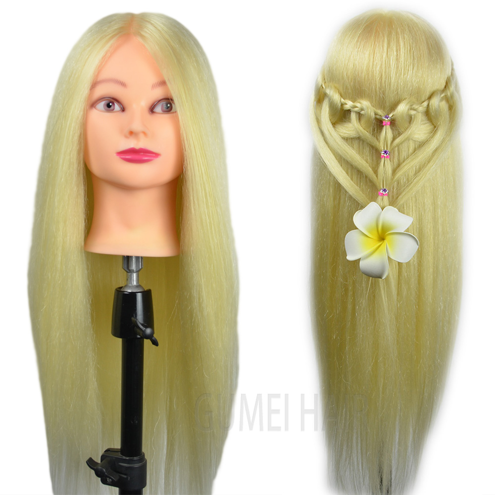 Wholesale Mannequin Head Training Mannequin Head For Hairdressers dolls for girl Head With Hair Hairdressing Dolls Head Wig Head