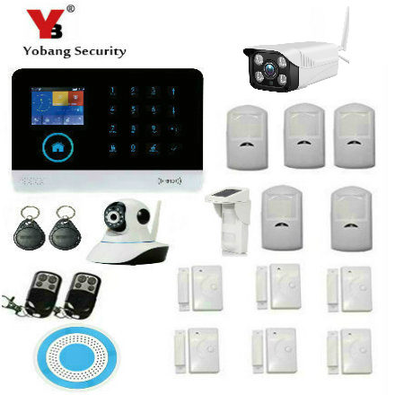 YoBang Security Wireless Outdoor Waterphoof IP Camera Wireless WIFI GSM Home Safety Alarm System Outdoor Pool Solar PIR Motion .