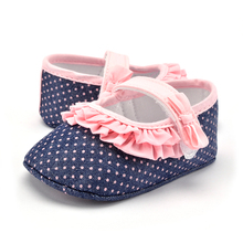 Fashion Cotton Baby Shoes Soft Sole Lovely Dots Infants First Walkers Toddlers Girls Princess Shoes 0-18 Months