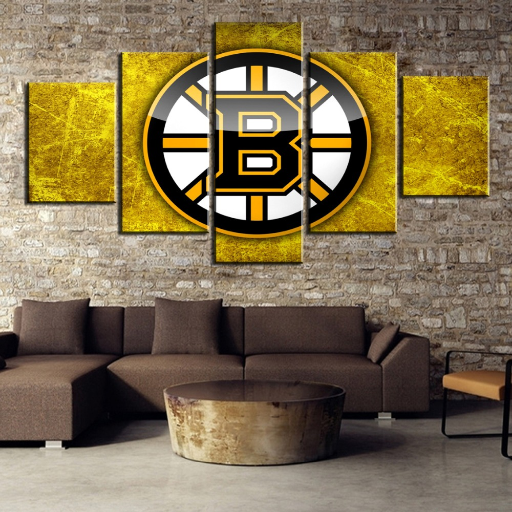 5 Piece Canvas Painting Ice Hockey Logo Sport Modern Decorative Paintings on Canvas Wall Art for Home Decorations Wall Decor in Painting Calligraphy from Home Garden