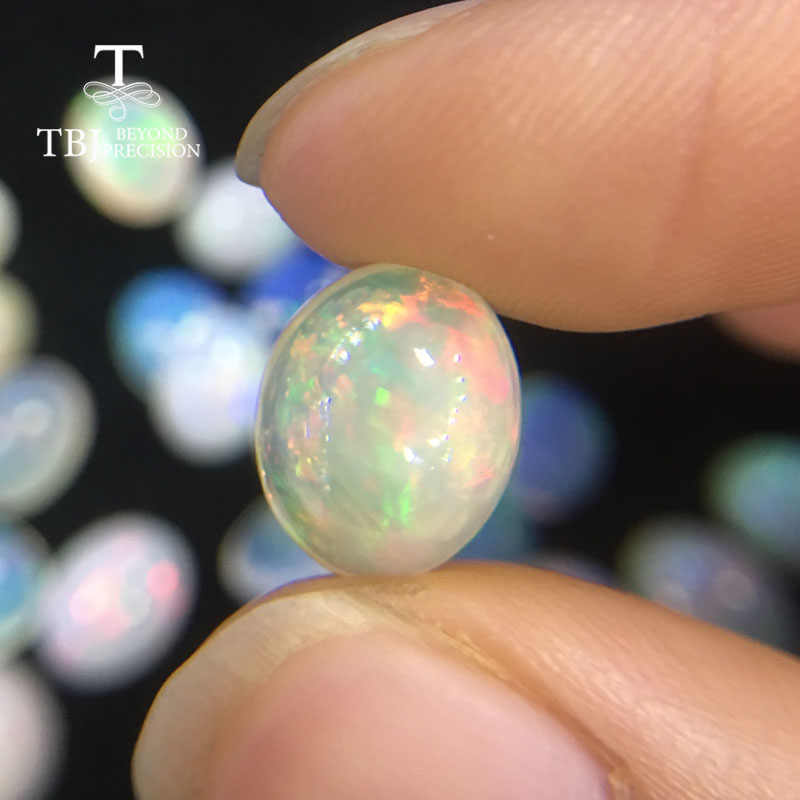 TBJ,Natural ethiopian opal good quality oval 10-12mm  3.65ct loose precious gemstone for diy jewelry