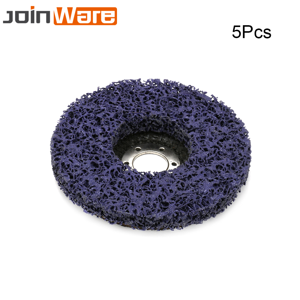 4 Inch Abrasive Poly Strip Disc Grinding Wheel for Metal Rust Paint Removal 2Pcs