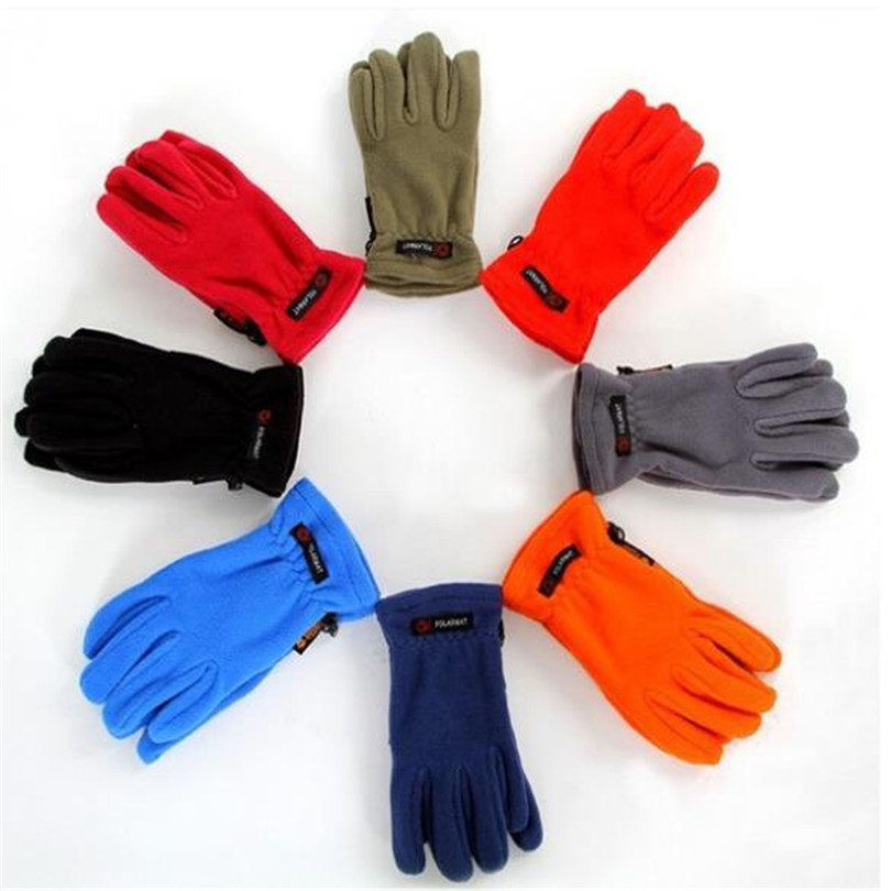 Unisex Radfahren Travel Handschuh Winter Außenreit licht Fleece Handschuhe Fleece Winddicht Warmen Thermal <font><b>Bike</b></font> Sport Vollfinger G089 image