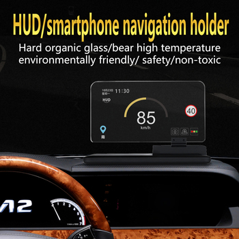Car HUD Head Up Display Bracket Car Mobile Phone Holder GPS Navigator Mount Stand with Reflection Film Glass Board Projector reflection