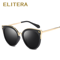 ELITERA Brand Design Classic Polarized Sunglasses Women Cat Eye Alloy Frame HD Lens Sun Glasses Eyewear