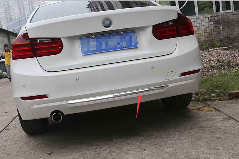 ABS Chrome Rear Bumper Molding Trim Decoration For BMW 3 Series F30 Car Accessories orly лак 972 pink noise