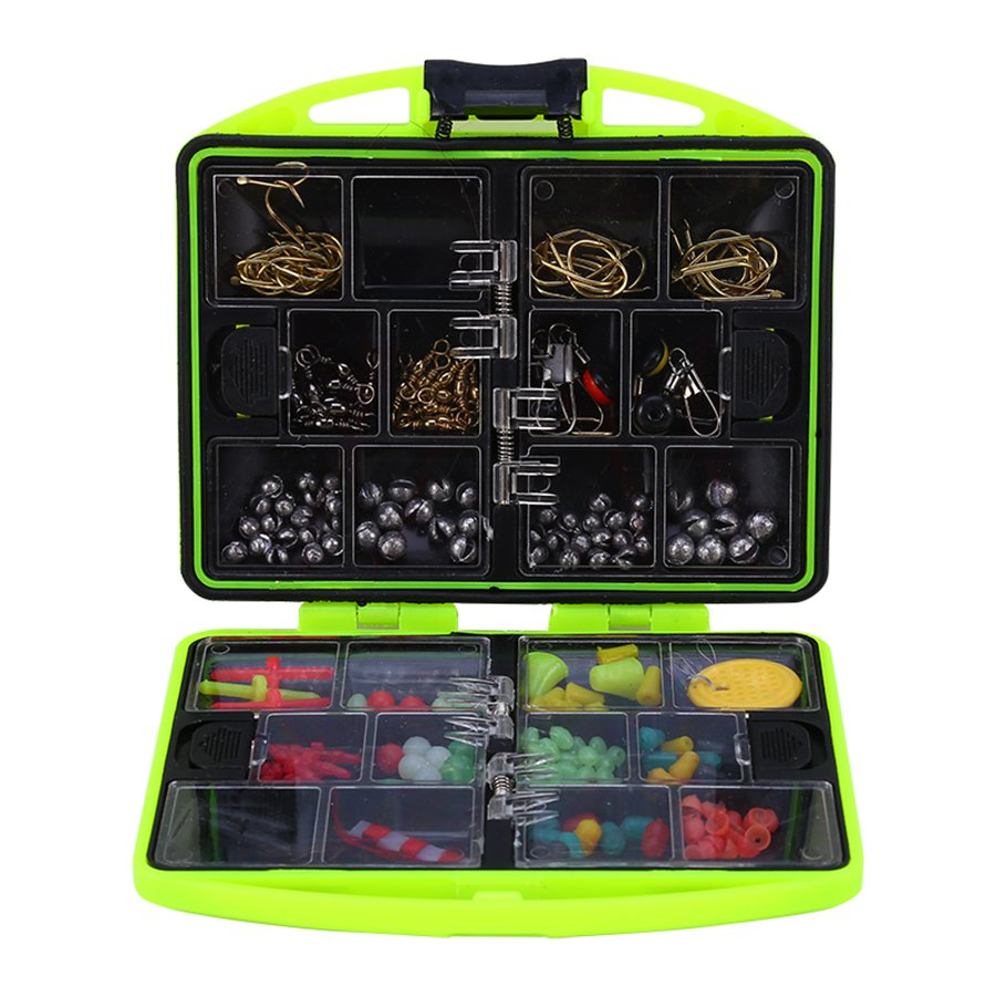 Fishing Tool Set Box Fishing Beads Lure Bait Jig Hook Swivels Tackle With 24 Compartments Fishing Accessories Box