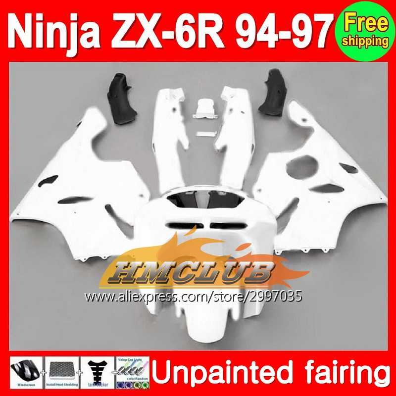 Body Unpainted Full Fairing Kit For KAWASAKI NINJA ZX-6R 94-97 ZX6R ZX 6R 6 R 94 95 96 97 1994 1995 1996 1997 Fairing