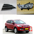 Left Side Driving Fog Light Lamp & Triangular Grille Grill Set For Ford Escape/Kuga 2013-2016