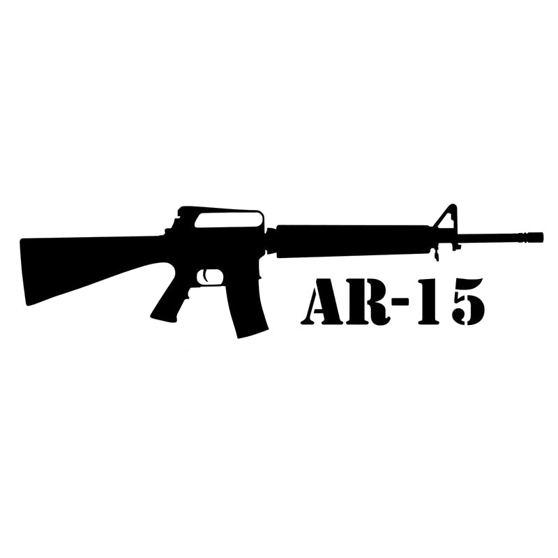 15X3.9CM COLT AR 15 First Funny Cartoon Gun Vinyl Car
