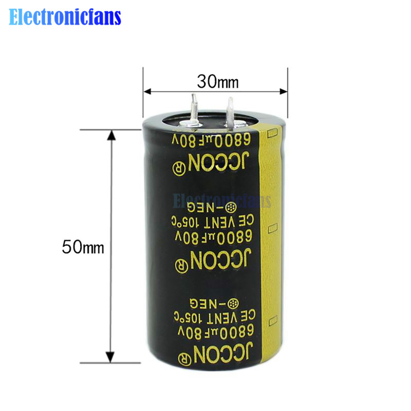 Diymore 80V 6800uF 30X50mm Aluminum Electrolytic Capacitor High Frequency Low ESR 80V6800uF 30*50mm Through Hole Capacitor