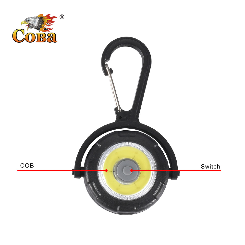 Coba Mini Flashlight Keychain Light Portable 4 Modes Clampable Rotatable New Applicable Torch For Emergency Situations