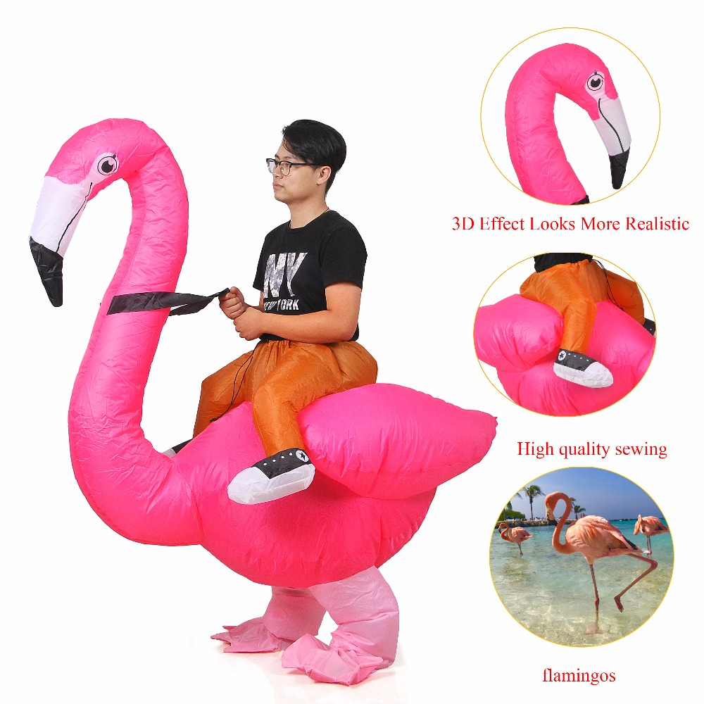 Inflatable Flamingo Anime Costume Party Halloween Costume For Women Man Adults Children Kids Inflatable Mascot Cosplay