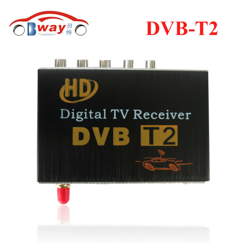 Car DVB-T2 Receiver for Russian Colombia Thailand USB DVB-T2 Android TV Tuner Car Digital Europe with Single Antenna DVB-T2 Auto  60km h 1080p car dvb t2 mobile digital tv tuner receiver box for russian colombia one seg free shipping