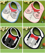 Collar Baby Festive Dress Cotton Bibs Infant Newborn Boy Girl Feeding Apron Smock Cute Pattern Bib Scarf Towel(China)