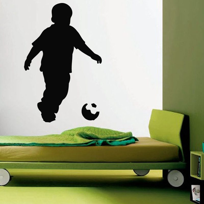 Football Player Sticker Sports Soccer Decal Helmets Girl Kids Room Name Posters Vinyl Wa ...