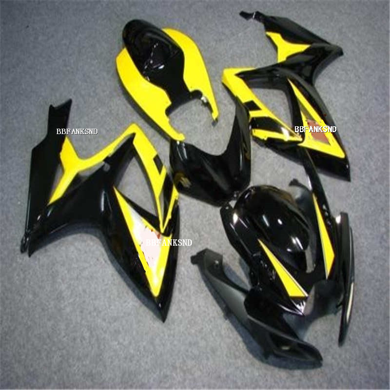 Hot Sales,<font><b>Fairings</b></font> body <font><b>Kit</b></font> For SUZUKI 2006 <font><b>2007</b></font> <font><b>GSXR</b></font> <font><b>600</b></font> 750 K6 GSXR600 GSXR750 06 07 Yellow Black <font><b>fairing</b></font> <font><b>kit</b></font> image