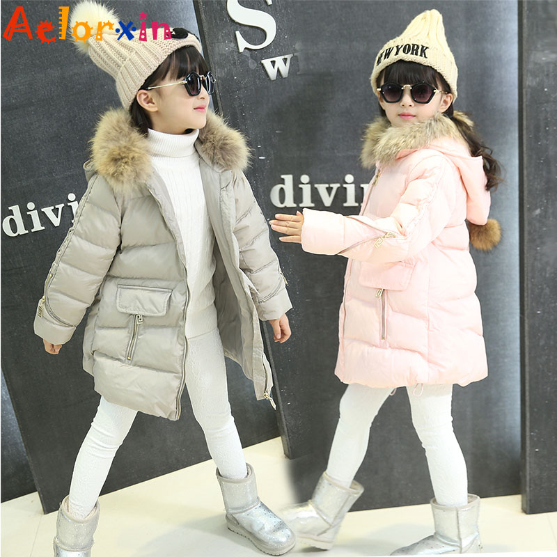 Girls Winter Jackets Warm Cotton Coats For Girls Winter Parkas Thicken Hooded Children Outerwear 4 6 8 10 12 Years Kids Clothes winter russia girls cotton coats baby jacket thick warm kids outerwear parkas children clothing for 4 6 8 10 12 years