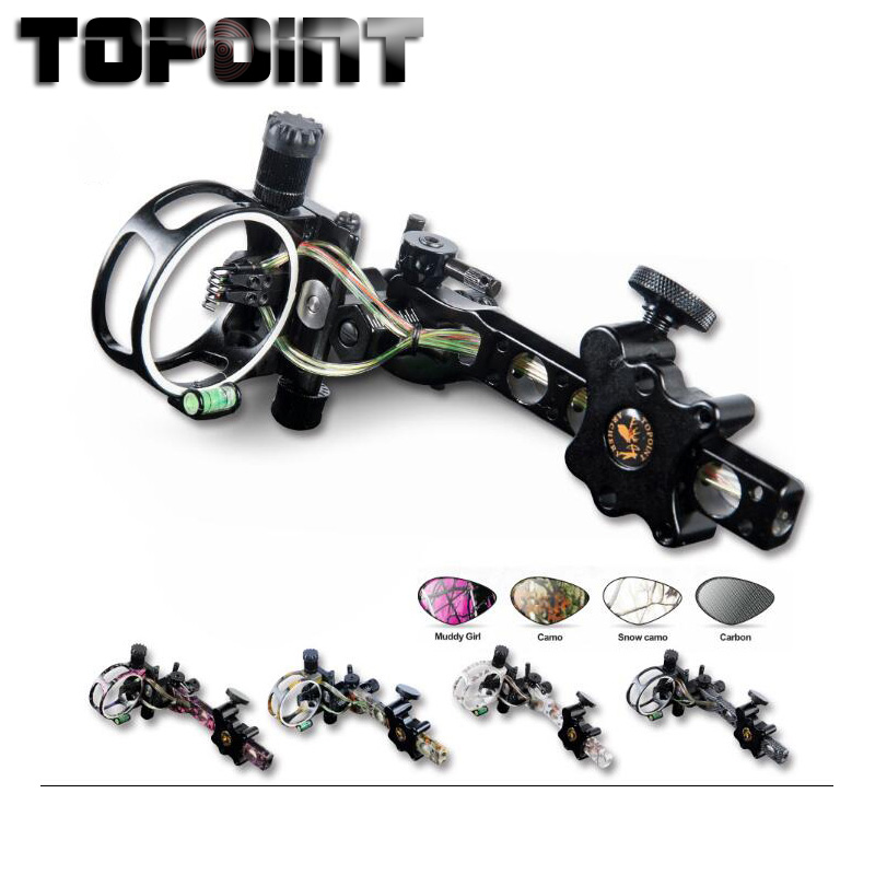 Bow For Shooting Archery Accessories TP7550 Professional Archery 5 Pin Bow Sight Micro adjust Hunting Compound
