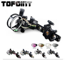 Bow For Shooting Archery Accessories TP7550 Professional Archery 5 Pin Bow Sight Micro-adjust Hunting Compound Bow Sights archery compound aluminum bow sights laser micro adjust optical fiber micro optic sight flecha hunting 1 pins shooting