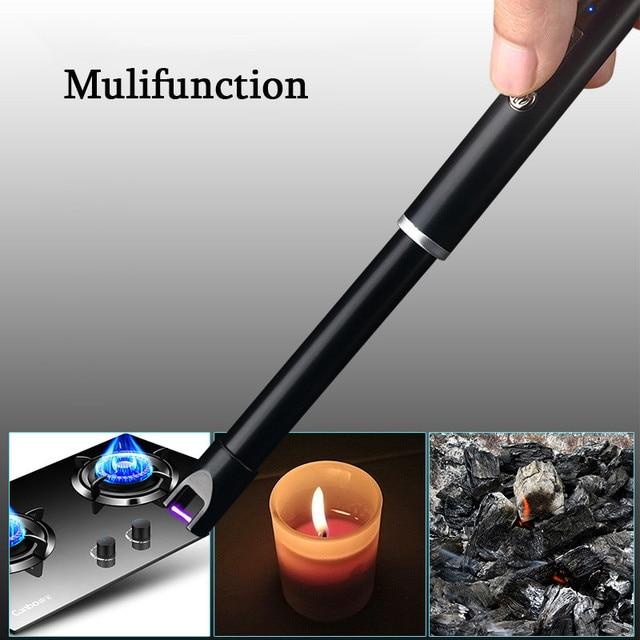 Elektronik Usb Pemantik Api Bertenaga Luar Ruangan Bbq Kompor Lilin Lebih Ringan Dapur Alat Burner