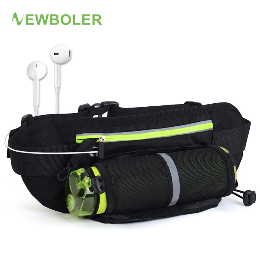 Поясная Сумка NEWBOLER для бега, сумка для марафона с бутылкой для воды для телефона 4,8-6,6 дюймов, спортивная сумка для бега, забавная сумка для му...