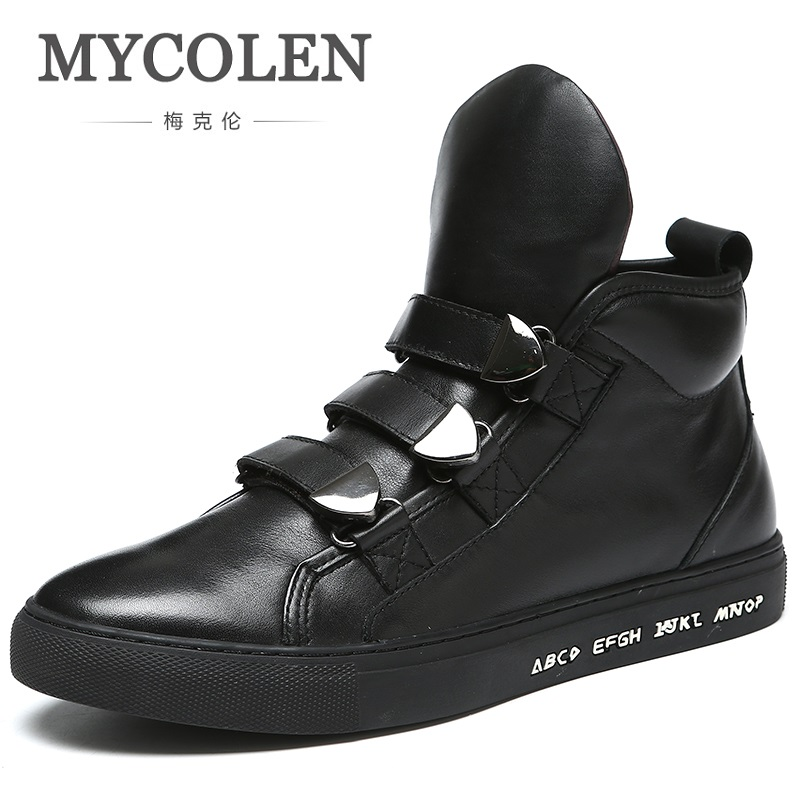MYCOLEN New Brand High Quality Spring/Autumn Shoes Men Super Warm Leather Boots Fashion High Top Man Ankle Boots Askeri Bot ...