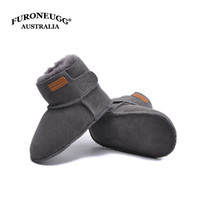 FORONEUGG Newborn Shoes Baby Booties Winter Boots Warm Sheep Skin Leather Fur Girls Botas Toddler Boys Shoe Kids Snowshoes Brand