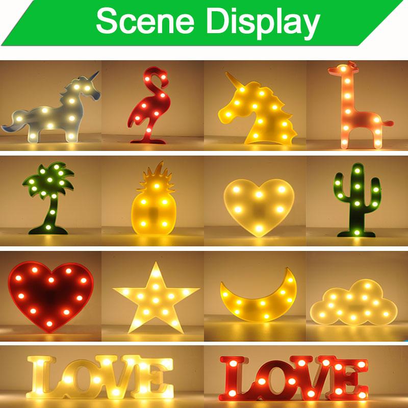 Hindistan cevizi Kalp Lamba işık Yenilik Luminaria 3D LED Gece - Gece Lambası - Fotoğraf 3