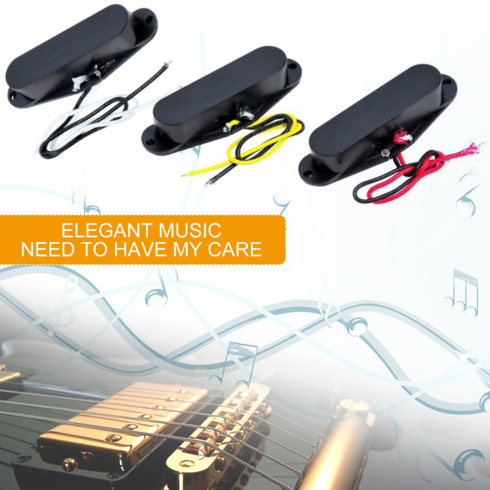 Professional Vintage Set of Single Coil Pickup Neck + Middle + Bridge for Electric Guitar Musical Instrument Accessory new yibuy gold vintage lipstick tube pickup for single coil electric guitar
