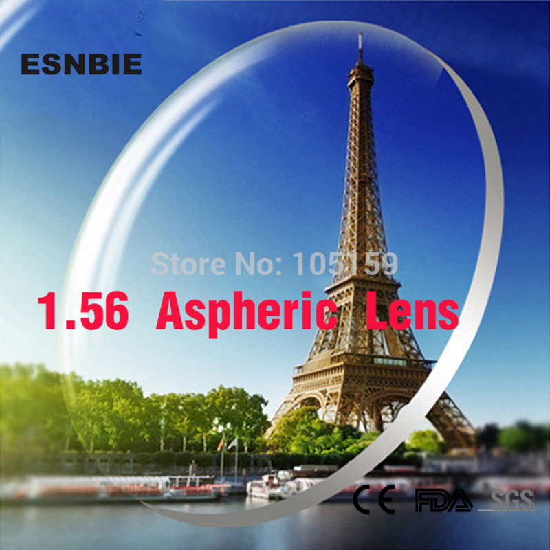 ESNBIE Customized  Lenses for Eyes 1.56 Index Aspheric Lens CR39 Prescription Glass Custom Myopia Hyperopia Lenses