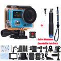 H3 H3R Action Camera Ultra HD 4K Go Waterproof  Double Screen Sport Camera gopro hero 4 style+Aluminum Extendable Pole Stick